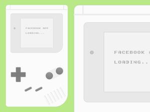 Gameboy UI Template Sketch Resource