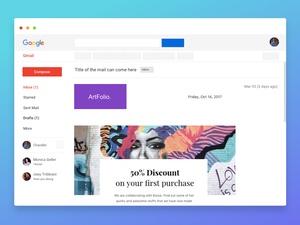 Gmail Newsletter Mockup