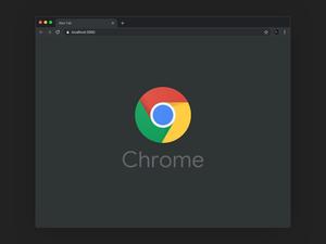 Google Chrome Dark Mode Mockup