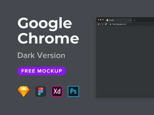 Google Chrome Mockup Dark
