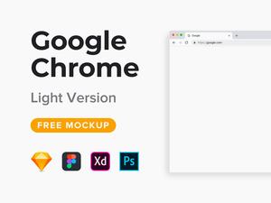 Google Chrome Mockup Light