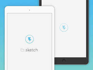 iPad App Showcase Template Sketch Resource
