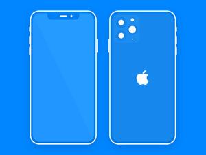 Flat and Minimal iPhone 11 Pro Mockup Sketch Resource