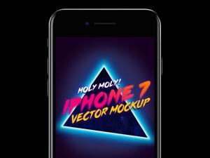 iPhone 7 Vector Mockup Sketch Resource
