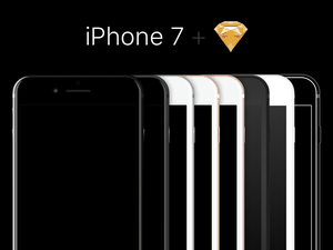 iPhone 7 Templates Sketch Resource