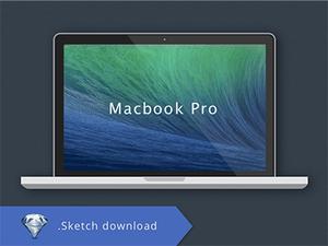 Apple Macbook Pro Flat Sketch Resource