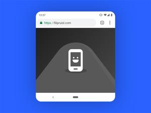 Android P Google Chrome Mockup – Material Design 2