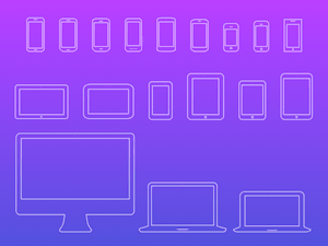 Mobile Devices Icons V4 Sketch Resource