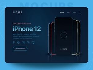 SketchのためのiPhone 12モックアップ