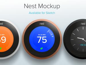 Nest Thermostat Mockup Sketch Resource
