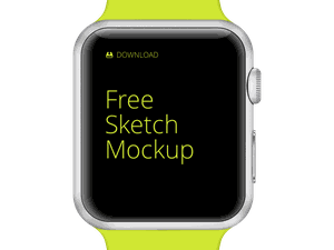 Apple Watch Free Mockup Sketch Resource