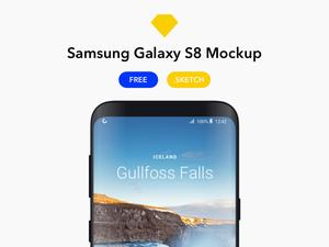Samsung Galaxy S8 Sketch Mockup