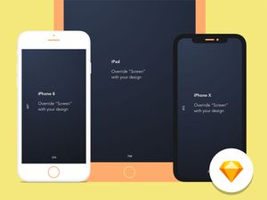 Apple Device Mockup Library Sketch Resource