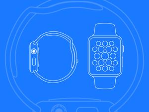 Apple Watch Line Mockup Sketch Resource
