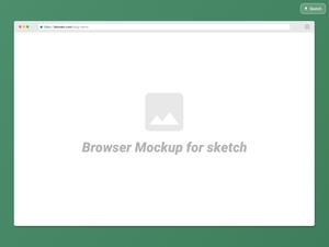 Browser Mockup for Sketch