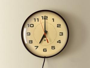 Realistic Vintage School Wall Clock Sketch Resource