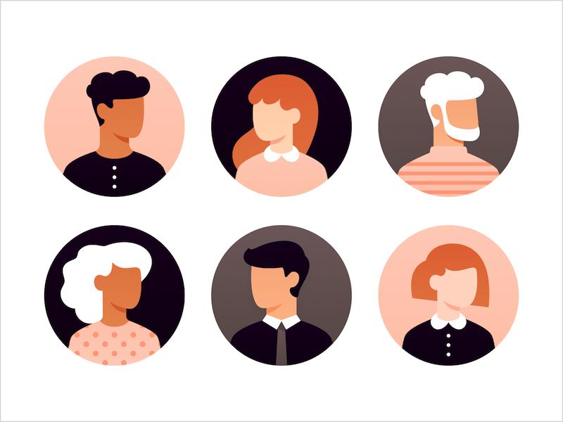 21 Stylish User Avatars Sketch Resource