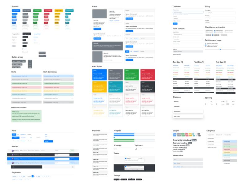 Bootstrap 4 UI Kit Sketch Resource