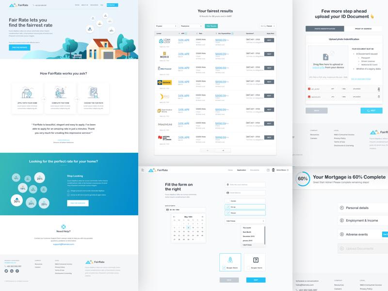 FairRate - Financial Web App Sketch Resource
