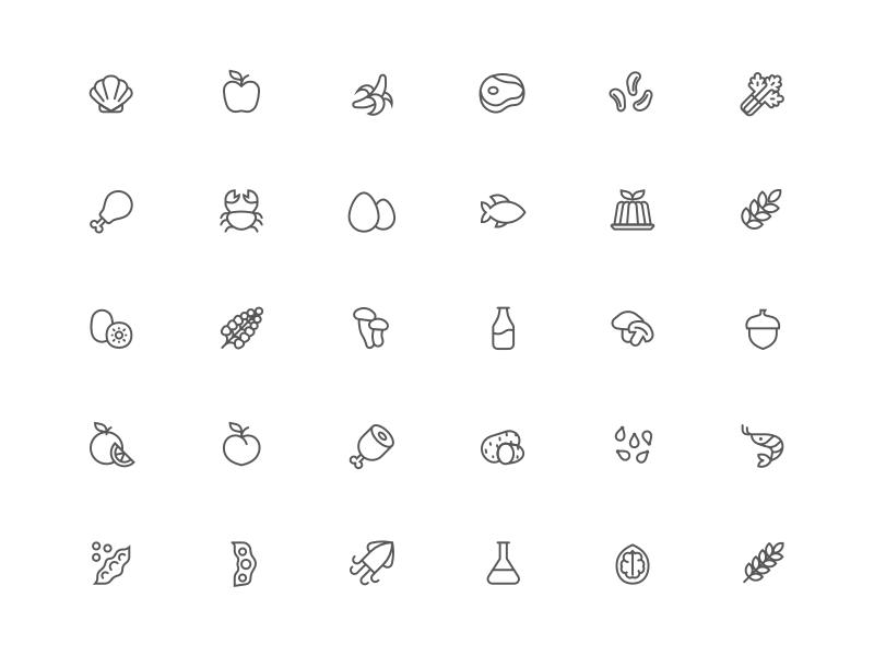 Food Allergen Icons Sketch Resource