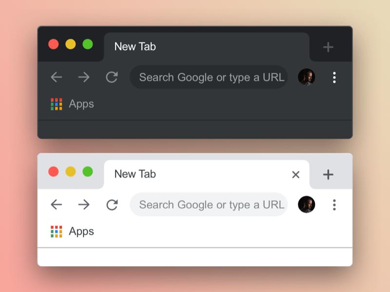 Google Chrome Mockup Sketch Resource