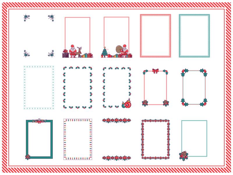 Festive Letter Borders Sketch Resource