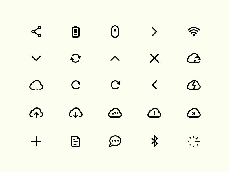 Mercury Icon Set Sketch Resource