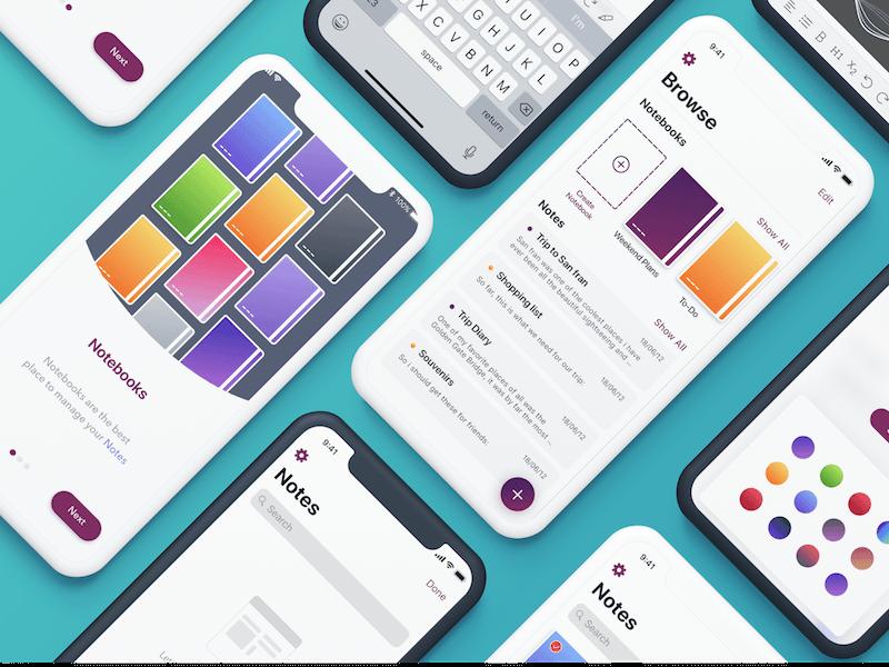 Penman - Upcoming Speech Notes App UI Sketch Resource