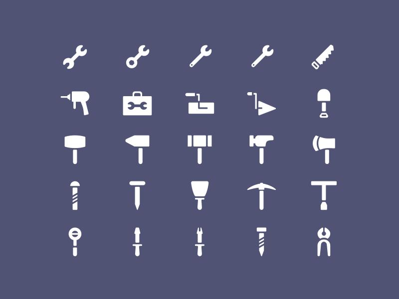 25 Tools Icon Set Sketch Resource
