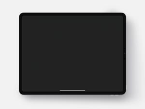 12.9 iPad Pro Mockup Sketch Resource