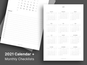 2021 Printable Calendar Sketch Resource