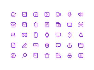 35シンプルラインアイコンSketchリソースをSketchします