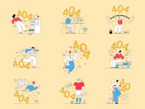 404 ilustraciones Sketch Recursos