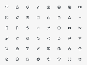 80 UI Outlined Icons Sketch Resource