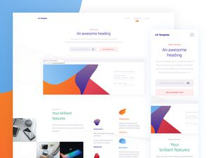 All Purpose Landing Page Sketch Resource