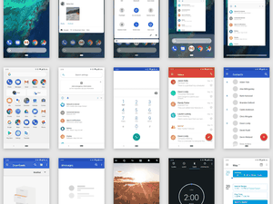 Android Pie UI Kit Sketch Resource
