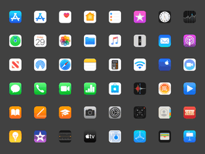 49 Apple iOS Icons Sketch Resource