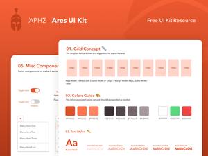 Ares Web UI Kit Sketch Resource
