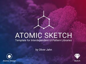 Atomic UI Pattern Library Sketch Resource