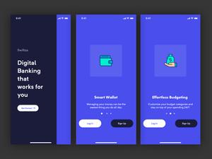 Bank App Onboarding Screens Sketch Resource