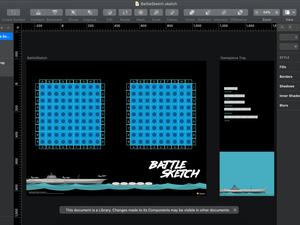 Battleship Game in Sketch Sketch Resource