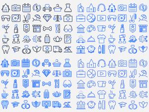 Beautiful Random Icons Sketch Resource