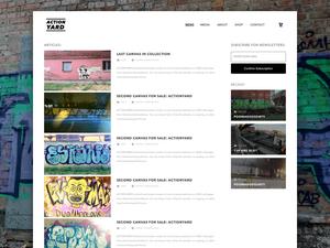 Шаблон веб-сайта граффити Ресурс