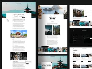 Simple UI Blog Template Sketch Resource