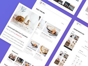 Blog UI Kit Template Sketch Resource
