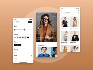 Shopping App UI Kit Demo – Blume