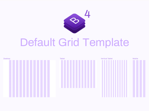 Bootstrap 4 Grid System Sketch Resource