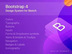 Bootstrap 4 Sketch Resource
