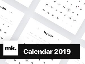 Calendar 2019 Sketch Resource