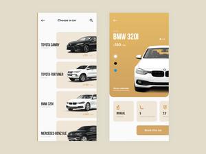 Car Rental iOS App Concept Sketch Resource